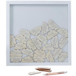 Hello World Wooden Frame Guestbook - 36cm