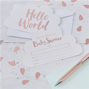 Hello World Invites - Party Invitation Cards
