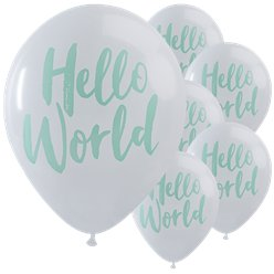 Hello World Balloons - 12