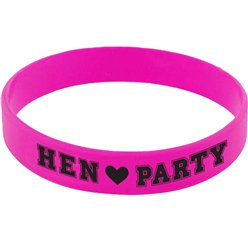 'Hen Party' Pink Rubber Bracelets