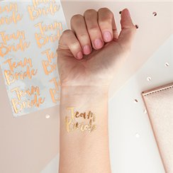 Rose Gold Team Bride Temporary Tattoos - 4cm
