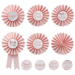 Team Bride Hen Party Badges - 8cm
