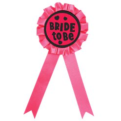 'Bride to Be' Rosette Badge