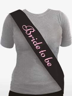 'Bride to Be' Sash Black & Pink
