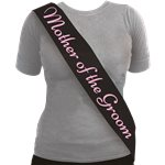 'Mother of the Groom' Sash Black & Pink