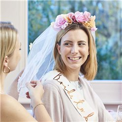Fancy Dress Accessories Floral Headband & Veil
