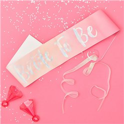 Iridescent Bride To Be Sash - 75cm