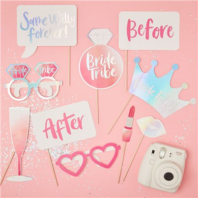 iridescent Bride Tribe Photo Booth Props