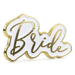 Bride Enamel Pin Badge