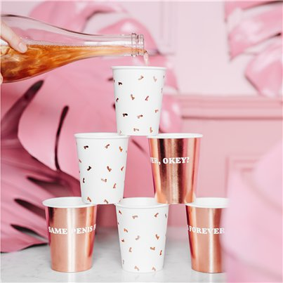 Rose Gold Penis Cups - 220ml