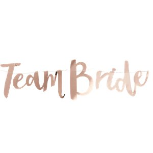 'Team Bride' Rose Gold Paper Bunting - 1.5m