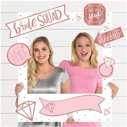 Blush Hen Party Bride Squad Giant Photo Prop Kit