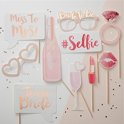 'Team Bride' Photo Booth Props