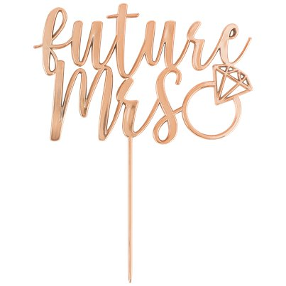 Blush Hen Party 'Future Mrs' Rose Gold Cake Topper