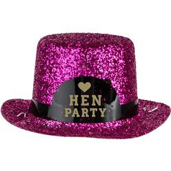 Mini Pink Glitter 'Hen Party' Hat
