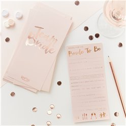 Rose Gold Foiled Advice For The Bride To Be Cards