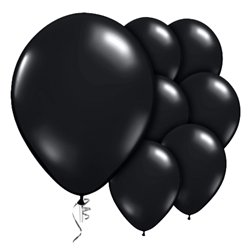 "Onyx Black Prolite Valved Balloons - 9"" Latex"