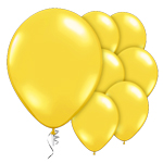 "Yellow Citrine Prolite Valved Balloons - 9"" Latex"