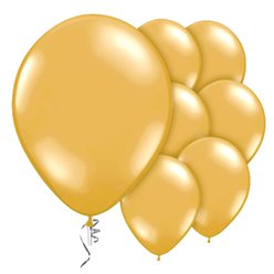 "Gold Prolite Valved Balloons - 9"" Latex"