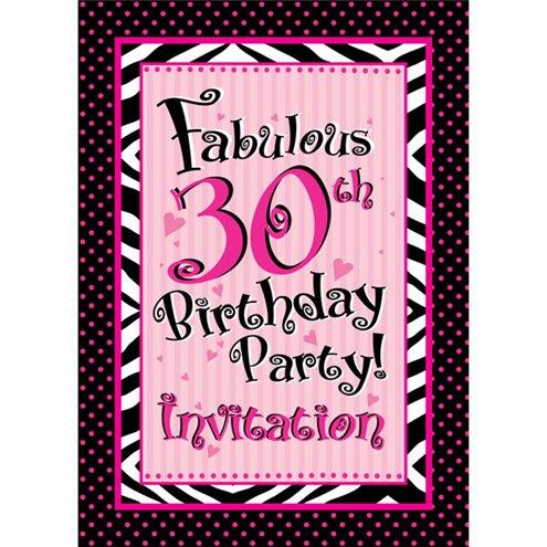 30th Birthday Invitation Cards