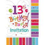 13th Birthday Invitation Cards - Radiant - Medium