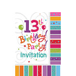 13th Birthday Invitation Cards - Radiant - Small