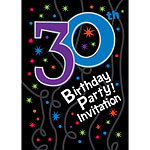 30th Birthday Invitation cards - The Party Continues - Medium