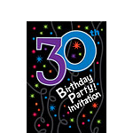 30th Birthday Invitation cards - The Party Continues - Small