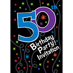 50th Birthday Invitation cards - The Party Continues - Medium
