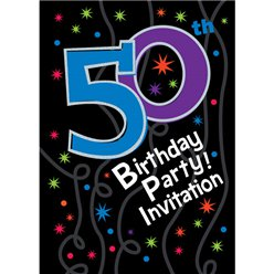 50th Birthday Invitation cards - The Party Continues - Small