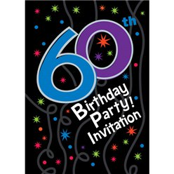 60th Birthday Invitation cards - The Party Continues - Medium