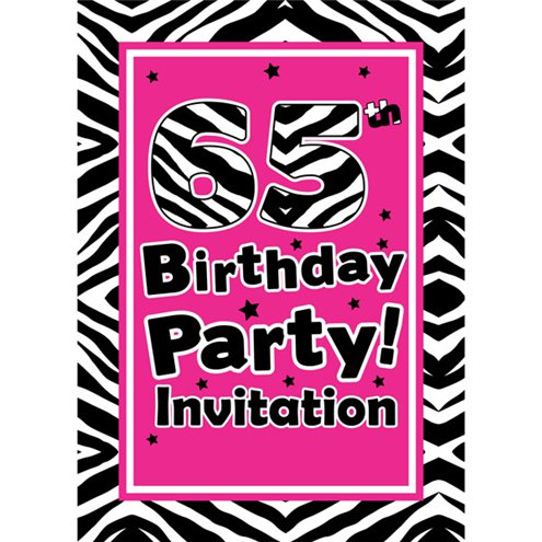 65th Birthday Invitation Cards