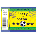 Football Invitation cards - Small