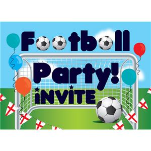 Football Invitation cards - Medium