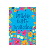 Birthday Invitation cards Summer Splash - Small