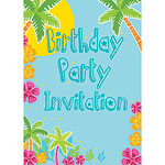 Birthday Invitation cards Summer Scene - Medium