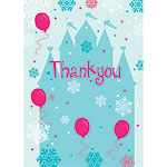 Thank you cards Snowflake Castle - Medium