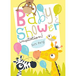 Baby Shower Invitation cards Safari Animals - Medium