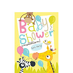 Baby Shower Invitation cards Safari Animals - Small