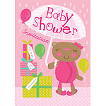 Baby Shower Invitation cards Mama Bear Pink - Medium
