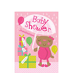 Baby Shower Invitation cards Mama Bear Pink - Small