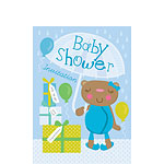 Baby Shower Invitation cards Mama Bear Blue - Small