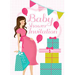Baby Shower Invitation cards Pink Party - Medium