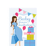 Baby Shower Invitation cards Blue Party - Small