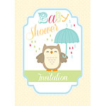 Baby Shower Invitation cards Little Owl - Medium