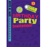 13th Birthday Invitation Cards - Let's Party - Medium