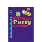 13th Birthday Invitation Cards - Let's Party - Small