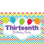 13th Birthday Invitation Cards - Multi Chevrons - Medium