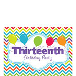13th Birthday Invitation Cards - Multi Chevrons - Small