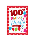 100th birthday invitations party delights